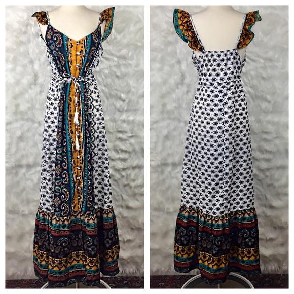 523ad2b6fe2e Lexi Morgan Dresses | Indian Button Down Belted Maxi Dress | Poshmark